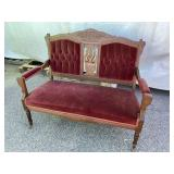 WALNUT CARVED VICTORIAN SETTEE