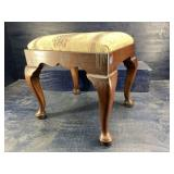 BARTLEY COLLECTION QUEEN ANNE SOLID CHERRY STOOL
