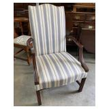 SOLID MAHOGANY FRAME CHIPPENDALE ARM CHAIR