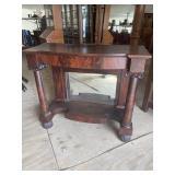FLAMED MAHOGANY 19TH CENTURY PETTICOAT TABLE