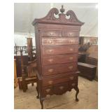 LATE 19TH CENTURY CHIPPENDALE LARGE HIGHBOY