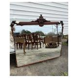 CHINESE CHIPPENDALE ETCHED MIRROR