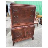 MAHOGANY CHINESE CHIPPENDALE CHEST ON CHEST