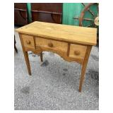 EARLY CHERRY PEGGED 3 DRAWER STAND
