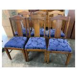SET OF 6 OAK T-BACK CHAIRS BY PHEONIX CHAIR CO.