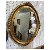 GOLD CARVED OVAL MIRROR