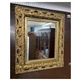 ANTIQUE VERY ORNATE GOLD MIRROR