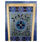 LARGE STAINED GLASS FRAMED
