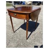CHERRY BANDED INLAID LARGE PEMBROKE TABLE
