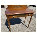 HITCHCOCK CHERRY 1 DRAWER TABLE