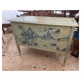 ORIENTAL PAINT DECORATED 3 DRAWER CHEST