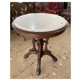 RARE VICTORIAN ROUND MARBLE TOP TABLE