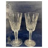 WATERFORD CRYSTAL LISMORE 2 SHORT STEMS