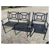 CAST ALUMINUM IRON CHAIR AND BENCH