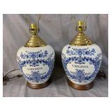 PR OF WILLIAMBURG BLUE VIRGINIA LAMPS