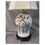 LARGE PORCELAIN ORIENTAL LAMP