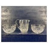 WATERFORD CRYSTAL 2 BOWLS AND CREAMER
