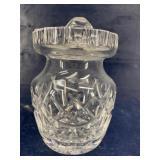 WATERFORD CRYSTAL MUSTARD JAM CONDIMENT JAR & LID