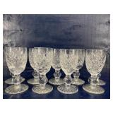 WATERFORD CRYSTAL DONEGAL CORDIAL STEMS 9