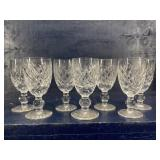 WATERFORD CRYSTAL DONEGAL SHORT WINE STEMS