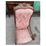 WALNUT GRAPE CARVED VICTORIAN CHAIR