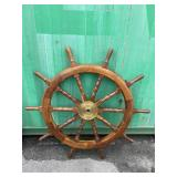 EXTRA LARGE PEGGED IN SHIPS WHEEL