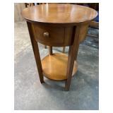MODERN ROUND 1 DRAWER TABLE