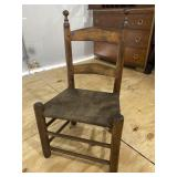 EARLY CHILD SIDE RUSH BOTTOM LADDER BACK CHAIR