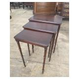 SET OF 3 IMPERIAL SOLID MAHOGANY STACKING TABLES
