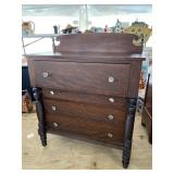 19TH CENTURY TWISTED COLUMN TALL CHEST