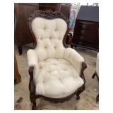 WALNUT VICTORIAN CARVED CHAIR