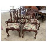SET OF 7 SOLID MAHOGANY CHIPPENDALE CHAIRS