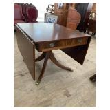 LARGE MAHOGANY DROP LEAF TABLE BY FINCH FURNITURE