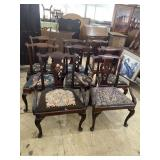 SET OF 8 EARLY 19TH CENTURY QUEEN ANNE CHAIRS