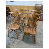 4 MAPLE WINDSOR CHAIRS