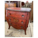 3 DRAWER PAINT DECORATED BOMBAY STYLE CHEST
