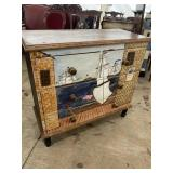 MODERN 3 DRAWER SHIP DECORATED CHEST