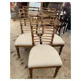 SET OF 5 FAUX BAMBOO CHAIRS