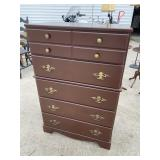 BROWN PAINTED 5 DRAWER CHEST