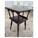 BROWN PAINTED MAPLE SIDE TABLE