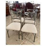 SET OF 4 IRON CHAIRS