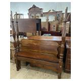 19TH CENTURY ANTIQUE TALL POSTER BED
