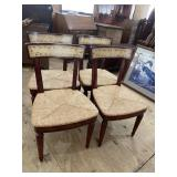 SET OF 4 DECORATED CHAIRS