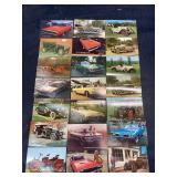 ANTIQUE COLLECTOR CAR POSTCARDS 21 IN LOT