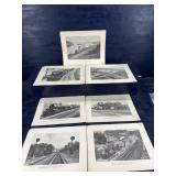 SOUTHERN RAILWAY TRAIN LITHOGRAPH SET OF 7