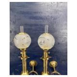 G.V. HARNISCH SWEDISH BRASS SHIP WALL OIL LAMP 2