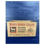 1956 ORIGINAL WHITE HORSE CELLAR WOODEN WHISKY