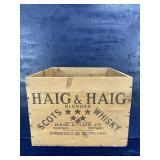 HAIG & HAIG SCOTS WHISKY WOODEN BOX CRATE