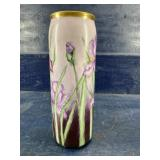 PL FRENCH LIMOGES PURPLE LILY VASE