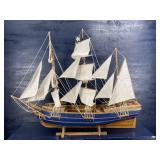 LARGE VINTAGE SAILING CLIPPER SHIP DISPLAY MODEL